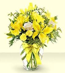 Order Flowers San Francisco - yellow ribbon bouquet colma florist funeral flowers san