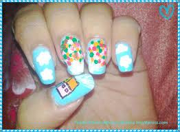 the disney movie u0027up u0027 inspired nail art the nail art and beauty