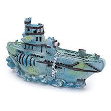 small submarine fish tank ornament by penn plax