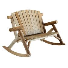 White Slat Rocking Chair by Shop Lakeland Mills Natural Cedar Patio Rocking Chair At Lowes Com