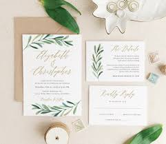 greenery wedding invitation template printable wedding
