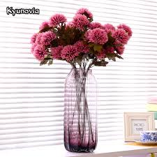faux flowers kyunovia artificial dahlia stem faux spider dahlia flower high