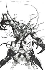 carnage coloring pages deadpool vs carnage leinil francis yu spider man pinterest