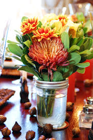 floral arrangements for thanksgiving table the beautiful little mason jar flower arrangements my mom made for