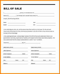 Free Motor Vehicle Bill Of Sale Template by Car Bill Of Sales Free Printable Auto Bill Of Sale Used