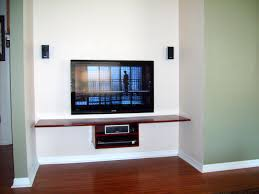 Media Storage Shelves by Furniture Flat Tv Over Brown Wooden Wall Self And Media Storage