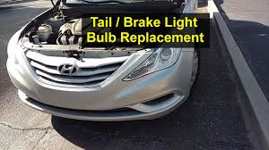 2006 hyundai sonata 3rd brake light replacement tail and brake light bulb replacement hyundai sonata votd youtube