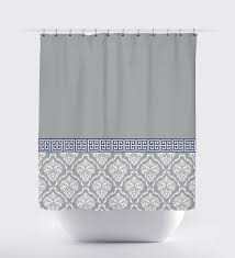 Navy And Grey Curtains Navy Key Shower Curtain Shower Curtains Ideas