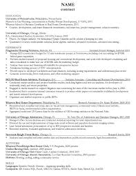 chicago admissions resume sample http resumesdesign com