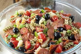pasta slad classic italian pasta salad wishes and dishes