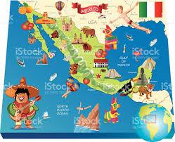 Map De Los Angeles by Mexico Cartoon Map Stock Vector Art 531986987 Istock