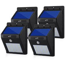 bright night solar lighting housmile 4 pack 16 led solar light waterproof heatproof 50 lux 8000k