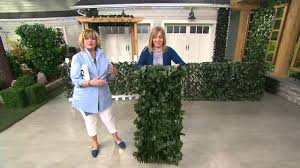 compass home expandable faux ivy privacy fence on qvc youtube