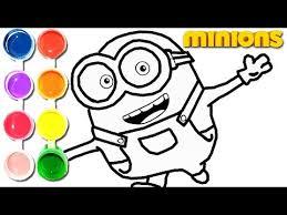 draw u0026 color minions banana drawing u0026 learning
