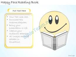 1113 business ppt diagram happy face reading book powerpoint