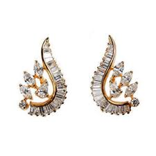 earring studs designer diamond stud earrings at rs 22000 pair chandni chowk