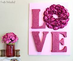 valentines decor decor tutorial valentines wall crafts unleashed
