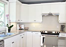 maple cabinets painted cloud white gray paint colour quartz