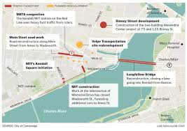 Red Line Mbta Map by Traffic Congestion Choke Points Bedevil Innovators In Kendall