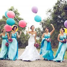 online shop rainbow bridesmaid dress for country style wedding one