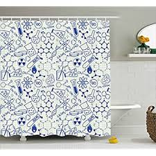 decor shower curtain by ambesonne science