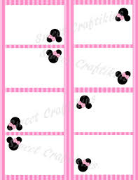 Diy Printable Food Cards Table Tents Inspired By Minnie Digital