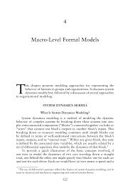 4 macro level formal models behavioral modeling and simulation