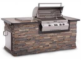 stone grill stacked stone backsplash stacked stone grill island