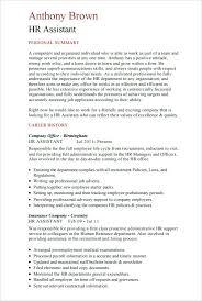 hr advisor cv template sample hr resume resume for hr assistant hr consultant resume