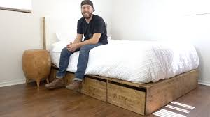 diy modern platform bed with storage modern builds ep 56