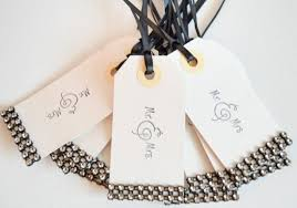wedding wish tags wish tree wedding tags gift tags bling party tags favor tags blac