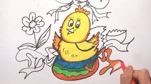 drawing and colouring cute chicken coloring ice cream how to