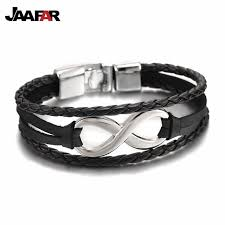 aliexpress buy 2016 new fashion men jewelry black cz aliexpress buy 2016 new fashion rope leather infinity