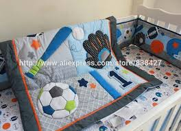 Sports Themed Comforters Aliexpress Com Buy 8 Pcs Baby Crib Bedding Sets Baseball Sports