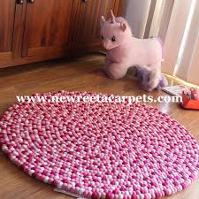 Nepal Felt Ball Rug Pink Felt Ball Rug New Reeta Carpets Nepal