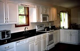 White Kitchen Cabinets With Granite Countertops Kitchen White Cabinets Black Granite Interior U0026 Exterior Doors