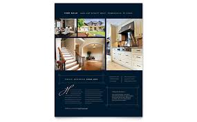 free real estate brochure templates luxury home real estate flyer