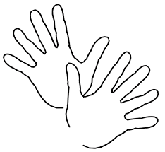hands and feet coloring pages free printable download coloring
