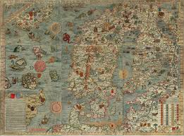 map all can you spot all the sea monsters in this 16th century map