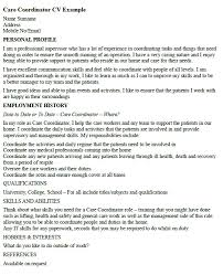 Personal Carer Resume Care Coordinator Cv Example U2013 Cover Letters And Cv Examples