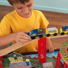thomas train table amazon amazon com kidkraft airport express espresso table and set toys