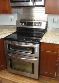 Kitchen With Stainless Steel Backsplash Kitchen Backsplash Behind Stove Wallpaper Backsplash Peel And