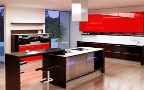 Kitchen Island Red Awesome Brown Color Wooden Modern Kitchen Island With Rectangle