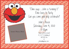 Invitation Birthday Party Card Elmo Birthday Party Invitations U2013 Gangcraft Net