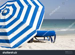 Beach Chair Umbrella Set Image Blue Lounge Chair Blue White Stock Photo 50534062 Shutterstock