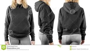 blank black sweatshirt mock up set isolated front back and side