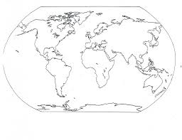 Blank Map Of Egypt by World Map Coloring Pages Coloring Page