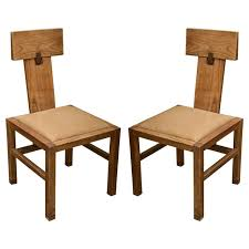 Light Oak Kitchen Chairs by Pair Of Oak Side Chairs By Andre Sornay Side Chairs Antiques