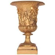 Fire Vase 19th Century Empire Fire Gilt Bronze Antique Onyx Vase For Sale At