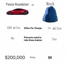 The Rock Meme Car - dopl3r com memes tesla roadster vs rock 620 miles miles per